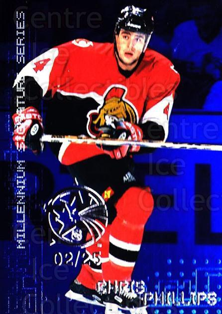 1999-00 BAP Millennium AS Game Sapphire #169 Chris Phillips<br/>1 In Stock - $10.00 each - <a href=https://centericecollectibles.foxycart.com/cart?name=1999-00%20BAP%20Millennium%20AS%20Game%20Sapphire%20%23169%20Chris%20Phillips...&quantity_max=1&price=$10.00&code=723815 class=foxycart> Buy it now! </a>