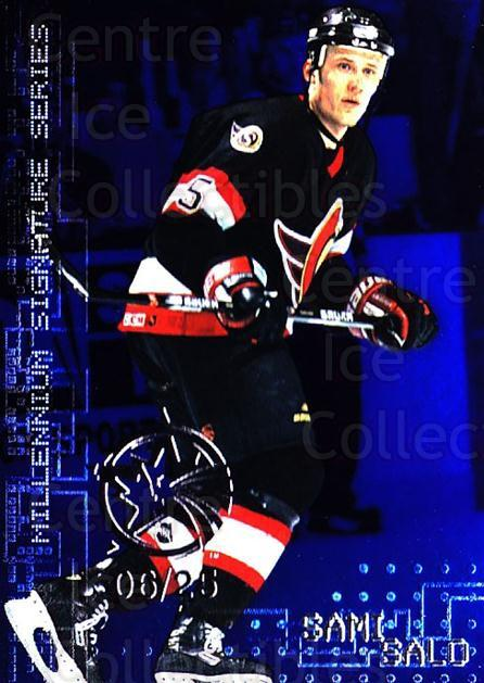 1999-00 BAP Millennium AS Game Sapphire #174 Sami Salo<br/>1 In Stock - $10.00 each - <a href=https://centericecollectibles.foxycart.com/cart?name=1999-00%20BAP%20Millennium%20AS%20Game%20Sapphire%20%23174%20Sami%20Salo...&quantity_max=1&price=$10.00&code=723821 class=foxycart> Buy it now! </a>