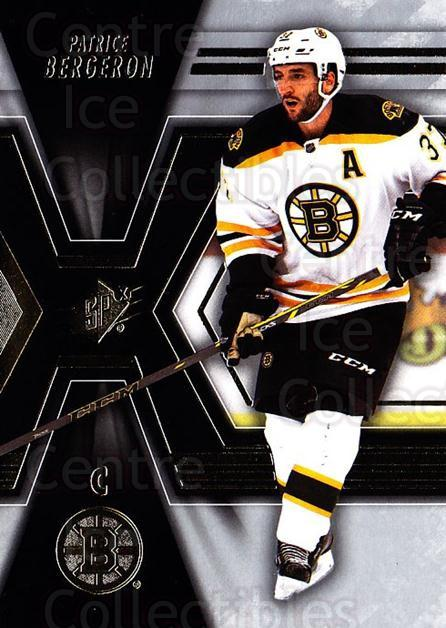 2014-15 Spx #6 Patrice Bergeron<br/>3 In Stock - $2.00 each - <a href=https://centericecollectibles.foxycart.com/cart?name=2014-15%20Spx%20%236%20Patrice%20Bergero...&quantity_max=3&price=$2.00&code=723950 class=foxycart> Buy it now! </a>
