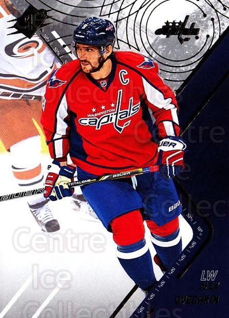 2015-16 Spx #1 Alexander Ovechkin<br/>1 In Stock - $3.00 each - <a href=https://centericecollectibles.foxycart.com/cart?name=2015-16%20Spx%20%231%20Alexander%20Ovech...&price=$3.00&code=724177 class=foxycart> Buy it now! </a>
