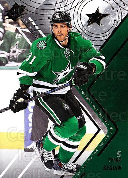 2015-16 Spx #43 Tyler Seguin<br/>2 In Stock - $2.00 each - <a href=https://centericecollectibles.foxycart.com/cart?name=2015-16%20Spx%20%2343%20Tyler%20Seguin...&quantity_max=2&price=$2.00&code=724219 class=foxycart> Buy it now! </a>
