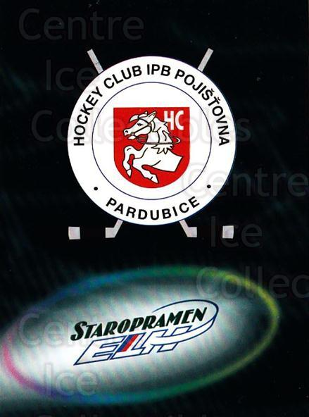 1998-99 Czech OFS Team Cards #5 HC IPB Pojistovna Pardubice<br/>1 In Stock - $3.00 each - <a href=https://centericecollectibles.foxycart.com/cart?name=1998-99%20Czech%20OFS%20Team%20Cards%20%235%20HC%20IPB%20Pojistov...&quantity_max=1&price=$3.00&code=724844 class=foxycart> Buy it now! </a>