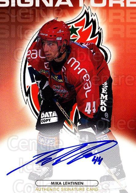 2003-04 Swedish Elitset Signatures Auto #7 Mika Lehtinen<br/>1 In Stock - $10.00 each - <a href=https://centericecollectibles.foxycart.com/cart?name=2003-04%20Swedish%20Elitset%20Signatures%20Auto%20%237%20Mika%20Lehtinen...&quantity_max=1&price=$10.00&code=724862 class=foxycart> Buy it now! </a>