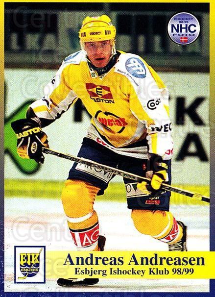 1998-99 Danish Hockey League #12 Andreas Andreasen<br/>1 In Stock - $3.00 each - <a href=https://centericecollectibles.foxycart.com/cart?name=1998-99%20Danish%20Hockey%20League%20%2312%20Andreas%20Andreas...&quantity_max=1&price=$3.00&code=725109 class=foxycart> Buy it now! </a>