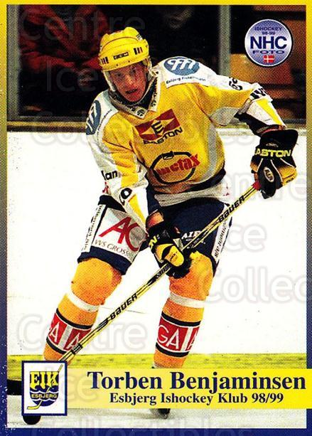1998-99 Danish Hockey League #16 Torbin Benjaminsen<br/>1 In Stock - $3.00 each - <a href=https://centericecollectibles.foxycart.com/cart?name=1998-99%20Danish%20Hockey%20League%20%2316%20Torbin%20Benjamin...&quantity_max=1&price=$3.00&code=725113 class=foxycart> Buy it now! </a>