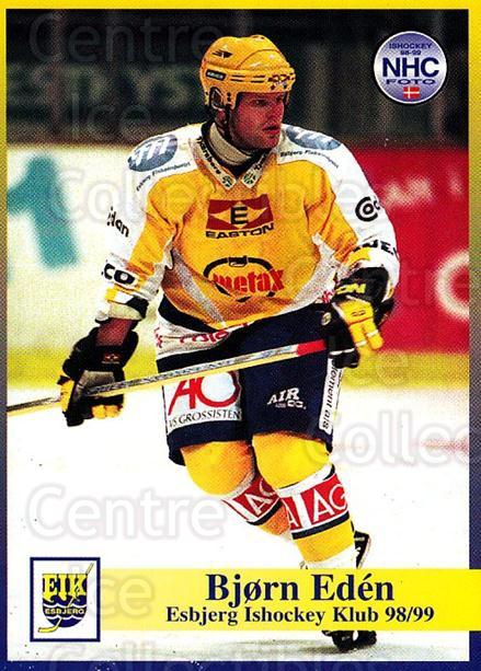 1998-99 Danish Hockey League #18 Bjorn Eden<br/>1 In Stock - $3.00 each - <a href=https://centericecollectibles.foxycart.com/cart?name=1998-99%20Danish%20Hockey%20League%20%2318%20Bjorn%20Eden...&quantity_max=1&price=$3.00&code=725115 class=foxycart> Buy it now! </a>
