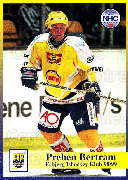 1998-99 Danish Hockey League #21 Preben Bertram<br/>1 In Stock - $3.00 each - <a href=https://centericecollectibles.foxycart.com/cart?name=1998-99%20Danish%20Hockey%20League%20%2321%20Preben%20Bertram...&quantity_max=1&price=$3.00&code=725118 class=foxycart> Buy it now! </a>