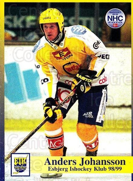 1998-99 Danish Hockey League #22 Anders Johansson<br/>1 In Stock - $3.00 each - <a href=https://centericecollectibles.foxycart.com/cart?name=1998-99%20Danish%20Hockey%20League%20%2322%20Anders%20Johansso...&quantity_max=1&price=$3.00&code=725119 class=foxycart> Buy it now! </a>