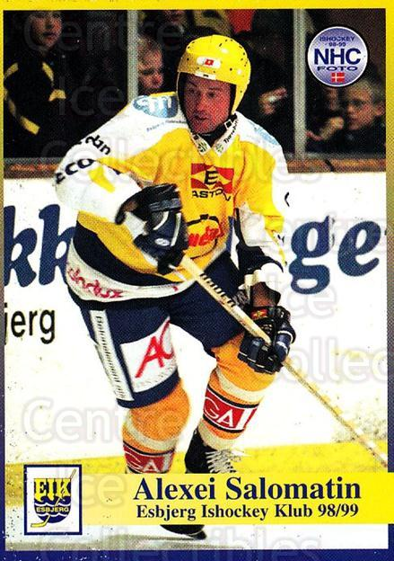 1998-99 Danish Hockey League #23 Alexei Salomatin<br/>1 In Stock - $3.00 each - <a href=https://centericecollectibles.foxycart.com/cart?name=1998-99%20Danish%20Hockey%20League%20%2323%20Alexei%20Salomati...&quantity_max=1&price=$3.00&code=725120 class=foxycart> Buy it now! </a>