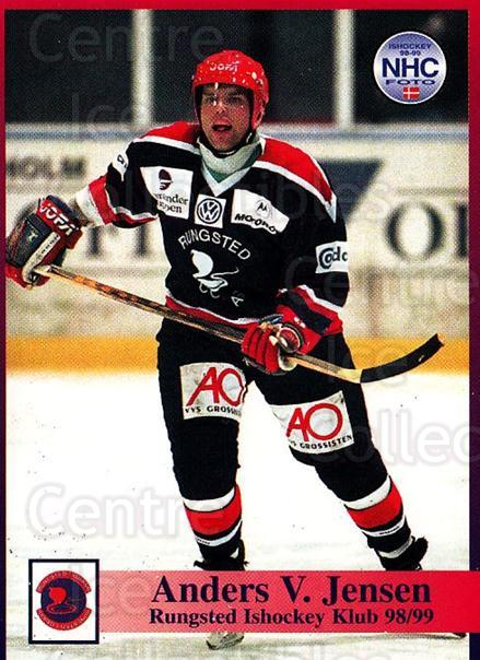 1998-99 Danish Hockey League #28 Anders Jensen<br/>1 In Stock - $3.00 each - <a href=https://centericecollectibles.foxycart.com/cart?name=1998-99%20Danish%20Hockey%20League%20%2328%20Anders%20Jensen...&quantity_max=1&price=$3.00&code=725125 class=foxycart> Buy it now! </a>