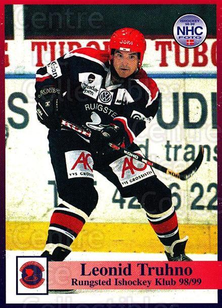 1998-99 Danish Hockey League #32 Leonid Truhno<br/>1 In Stock - $3.00 each - <a href=https://centericecollectibles.foxycart.com/cart?name=1998-99%20Danish%20Hockey%20League%20%2332%20Leonid%20Truhno...&quantity_max=1&price=$3.00&code=725129 class=foxycart> Buy it now! </a>