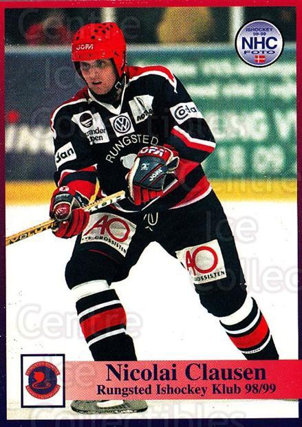 1998-99 Danish Hockey League #35 Nikolai Clausen<br/>1 In Stock - $3.00 each - <a href=https://centericecollectibles.foxycart.com/cart?name=1998-99%20Danish%20Hockey%20League%20%2335%20Nikolai%20Clausen...&quantity_max=1&price=$3.00&code=725132 class=foxycart> Buy it now! </a>