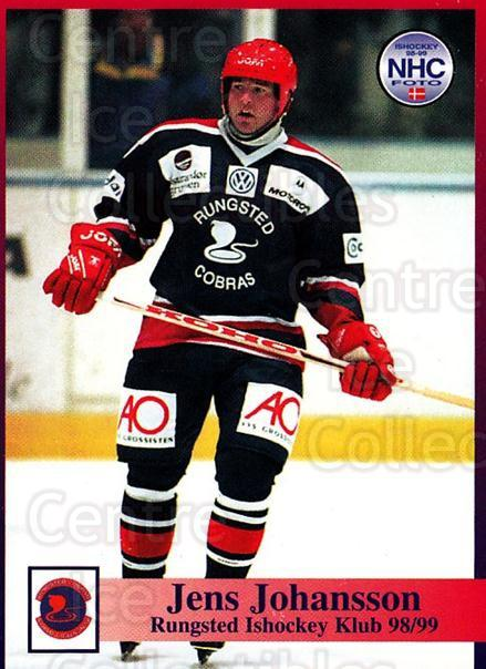 1998-99 Danish Hockey League #39 Jens Johansson<br/>1 In Stock - $3.00 each - <a href=https://centericecollectibles.foxycart.com/cart?name=1998-99%20Danish%20Hockey%20League%20%2339%20Jens%20Johansson...&quantity_max=1&price=$3.00&code=725136 class=foxycart> Buy it now! </a>