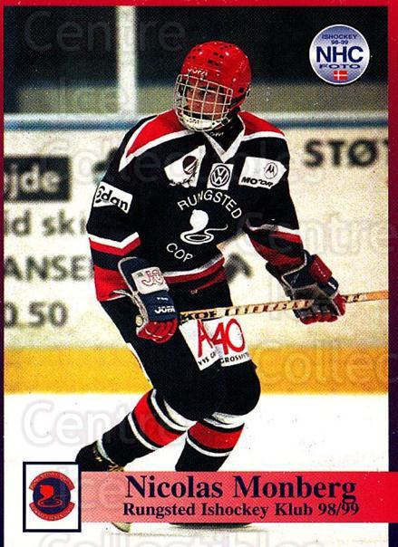 1998-99 Danish Hockey League #40 Nicklas Monberg<br/>1 In Stock - $3.00 each - <a href=https://centericecollectibles.foxycart.com/cart?name=1998-99%20Danish%20Hockey%20League%20%2340%20Nicklas%20Monberg...&quantity_max=1&price=$3.00&code=725137 class=foxycart> Buy it now! </a>