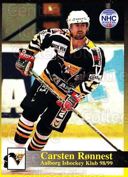 1998-99 Danish Hockey League #49 Carsten Ronnest<br/>1 In Stock - $3.00 each - <a href=https://centericecollectibles.foxycart.com/cart?name=1998-99%20Danish%20Hockey%20League%20%2349%20Carsten%20Ronnest...&quantity_max=1&price=$3.00&code=725146 class=foxycart> Buy it now! </a>