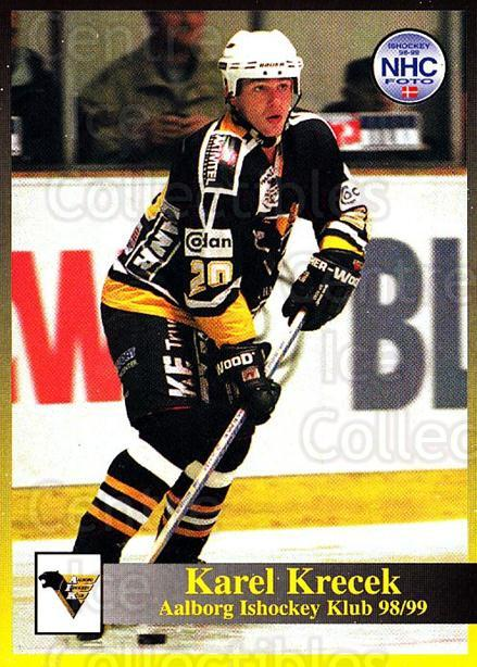 1998-99 Danish Hockey League #54 Karel Krecek<br/>1 In Stock - $3.00 each - <a href=https://centericecollectibles.foxycart.com/cart?name=1998-99%20Danish%20Hockey%20League%20%2354%20Karel%20Krecek...&quantity_max=1&price=$3.00&code=725151 class=foxycart> Buy it now! </a>