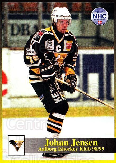 1998-99 Danish Hockey League #56 Johan Jensen<br/>1 In Stock - $3.00 each - <a href=https://centericecollectibles.foxycart.com/cart?name=1998-99%20Danish%20Hockey%20League%20%2356%20Johan%20Jensen...&quantity_max=1&price=$3.00&code=725153 class=foxycart> Buy it now! </a>