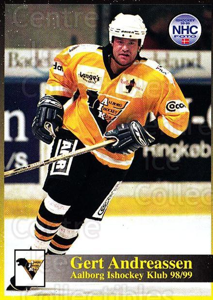 1998-99 Danish Hockey League #65 Jens Gregersen<br/>1 In Stock - $3.00 each - <a href=https://centericecollectibles.foxycart.com/cart?name=1998-99%20Danish%20Hockey%20League%20%2365%20Jens%20Gregersen...&quantity_max=1&price=$3.00&code=725162 class=foxycart> Buy it now! </a>
