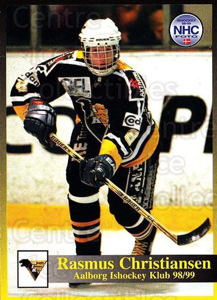 1998-99 Danish Hockey League #67 Kristian Hansen<br/>1 In Stock - $3.00 each - <a href=https://centericecollectibles.foxycart.com/cart?name=1998-99%20Danish%20Hockey%20League%20%2367%20Kristian%20Hansen...&quantity_max=1&price=$3.00&code=725164 class=foxycart> Buy it now! </a>