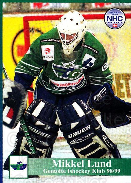 1998-99 Danish Hockey League #72 Mikkel Lund<br/>1 In Stock - $3.00 each - <a href=https://centericecollectibles.foxycart.com/cart?name=1998-99%20Danish%20Hockey%20League%20%2372%20Mikkel%20Lund...&quantity_max=1&price=$3.00&code=725169 class=foxycart> Buy it now! </a>