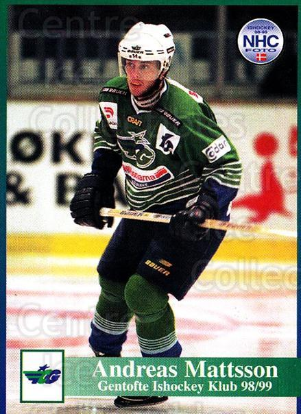 1998-99 Danish Hockey League #77 Andreas Mattsson<br/>1 In Stock - $3.00 each - <a href=https://centericecollectibles.foxycart.com/cart?name=1998-99%20Danish%20Hockey%20League%20%2377%20Andreas%20Mattsso...&quantity_max=1&price=$3.00&code=725174 class=foxycart> Buy it now! </a>