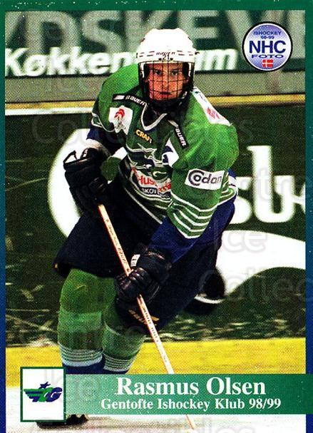 1998-99 Danish Hockey League #81 Rasmus Olsen<br/>1 In Stock - $3.00 each - <a href=https://centericecollectibles.foxycart.com/cart?name=1998-99%20Danish%20Hockey%20League%20%2381%20Rasmus%20Olsen...&quantity_max=1&price=$3.00&code=725178 class=foxycart> Buy it now! </a>