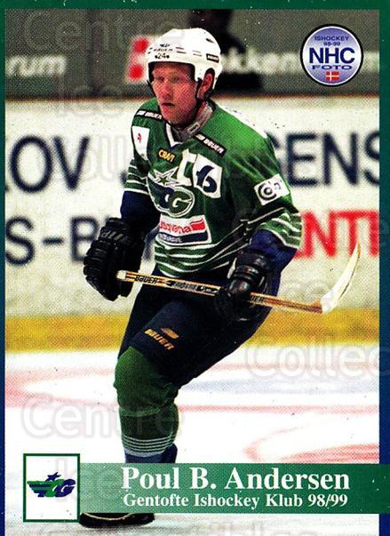 1998-99 Danish Hockey League #82 Poul Andersen<br/>1 In Stock - $3.00 each - <a href=https://centericecollectibles.foxycart.com/cart?name=1998-99%20Danish%20Hockey%20League%20%2382%20Poul%20Andersen...&quantity_max=1&price=$3.00&code=725179 class=foxycart> Buy it now! </a>