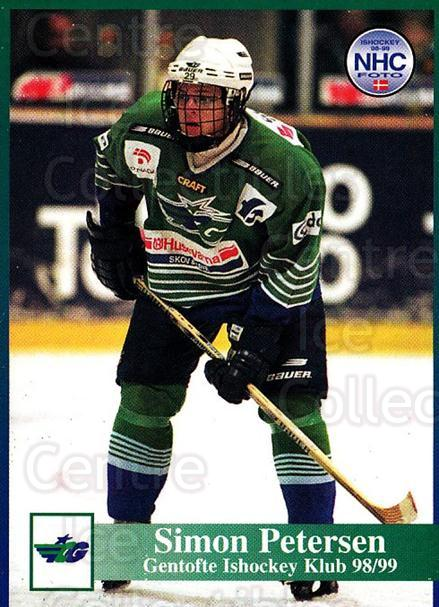 1998-99 Danish Hockey League #83 Simon Petersen<br/>1 In Stock - $3.00 each - <a href=https://centericecollectibles.foxycart.com/cart?name=1998-99%20Danish%20Hockey%20League%20%2383%20Simon%20Petersen...&quantity_max=1&price=$3.00&code=725180 class=foxycart> Buy it now! </a>