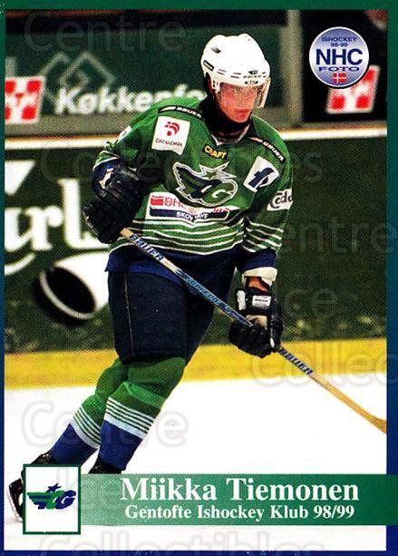 1998-99 Danish Hockey League #85 Markku Tiemonen<br/>1 In Stock - $3.00 each - <a href=https://centericecollectibles.foxycart.com/cart?name=1998-99%20Danish%20Hockey%20League%20%2385%20Markku%20Tiemonen...&quantity_max=1&price=$3.00&code=725182 class=foxycart> Buy it now! </a>