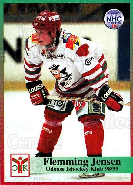 1998-99 Danish Hockey League #103 Flemming Jensen<br/>1 In Stock - $3.00 each - <a href=https://centericecollectibles.foxycart.com/cart?name=1998-99%20Danish%20Hockey%20League%20%23103%20Flemming%20Jensen...&quantity_max=1&price=$3.00&code=725200 class=foxycart> Buy it now! </a>