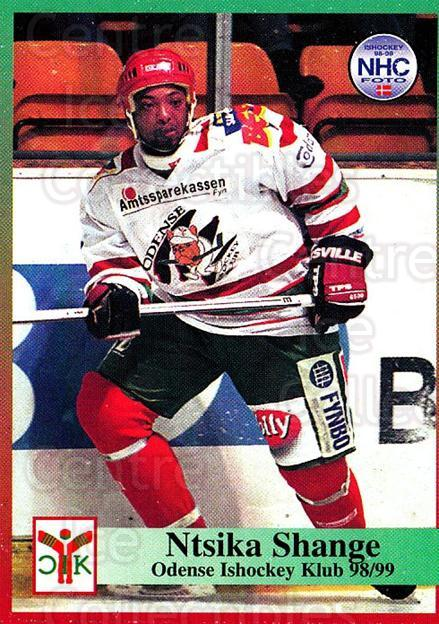 1998-99 Danish Hockey League #107 Ntsika Shange<br/>1 In Stock - $3.00 each - <a href=https://centericecollectibles.foxycart.com/cart?name=1998-99%20Danish%20Hockey%20League%20%23107%20Ntsika%20Shange...&quantity_max=1&price=$3.00&code=725204 class=foxycart> Buy it now! </a>