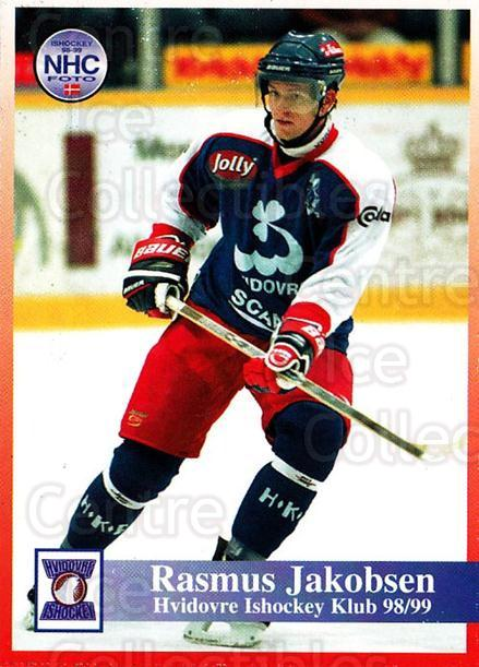 1998-99 Danish Hockey League #117 Rasmus Jacobsen<br/>1 In Stock - $3.00 each - <a href=https://centericecollectibles.foxycart.com/cart?name=1998-99%20Danish%20Hockey%20League%20%23117%20Rasmus%20Jacobsen...&quantity_max=1&price=$3.00&code=725214 class=foxycart> Buy it now! </a>