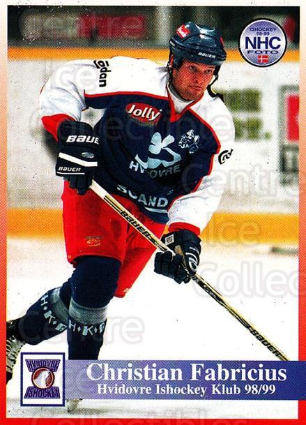 1998-99 Danish Hockey League #121 Christian Fabricius<br/>1 In Stock - $3.00 each - <a href=https://centericecollectibles.foxycart.com/cart?name=1998-99%20Danish%20Hockey%20League%20%23121%20Christian%20Fabri...&quantity_max=1&price=$3.00&code=725218 class=foxycart> Buy it now! </a>