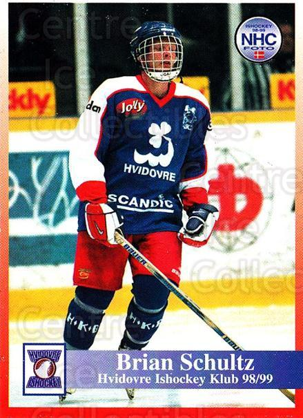 1998-99 Danish Hockey League #122 Brian Schultz<br/>1 In Stock - $3.00 each - <a href=https://centericecollectibles.foxycart.com/cart?name=1998-99%20Danish%20Hockey%20League%20%23122%20Brian%20Schultz...&quantity_max=1&price=$3.00&code=725219 class=foxycart> Buy it now! </a>