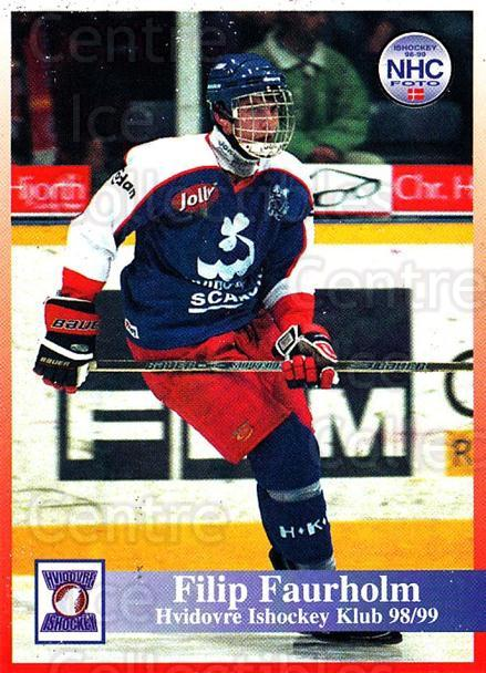 1998-99 Danish Hockey League #123 Filip Faurholm<br/>1 In Stock - $3.00 each - <a href=https://centericecollectibles.foxycart.com/cart?name=1998-99%20Danish%20Hockey%20League%20%23123%20Filip%20Faurholm...&quantity_max=1&price=$3.00&code=725220 class=foxycart> Buy it now! </a>