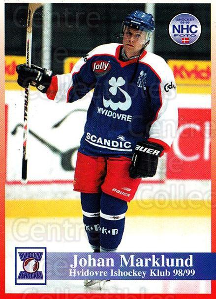 1998-99 Danish Hockey League #126 Johan Marklund<br/>1 In Stock - $3.00 each - <a href=https://centericecollectibles.foxycart.com/cart?name=1998-99%20Danish%20Hockey%20League%20%23126%20Johan%20Marklund...&quantity_max=1&price=$3.00&code=725223 class=foxycart> Buy it now! </a>
