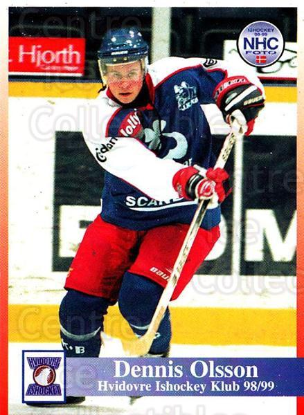1998-99 Danish Hockey League #127 Dennis Olsson<br/>1 In Stock - $3.00 each - <a href=https://centericecollectibles.foxycart.com/cart?name=1998-99%20Danish%20Hockey%20League%20%23127%20Dennis%20Olsson...&quantity_max=1&price=$3.00&code=725224 class=foxycart> Buy it now! </a>