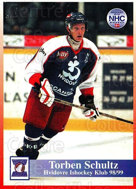 1998-99 Danish Hockey League #128 Torben Schultz<br/>1 In Stock - $3.00 each - <a href=https://centericecollectibles.foxycart.com/cart?name=1998-99%20Danish%20Hockey%20League%20%23128%20Torben%20Schultz...&quantity_max=1&price=$3.00&code=725225 class=foxycart> Buy it now! </a>