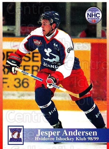 1998-99 Danish Hockey League #132 Jesper Andersen<br/>1 In Stock - $3.00 each - <a href=https://centericecollectibles.foxycart.com/cart?name=1998-99%20Danish%20Hockey%20League%20%23132%20Jesper%20Andersen...&quantity_max=1&price=$3.00&code=725229 class=foxycart> Buy it now! </a>
