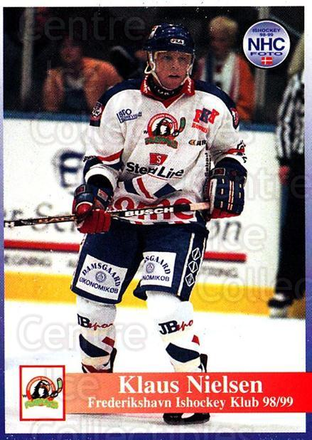 1998-99 Danish Hockey League #141 Klaus Nielsen<br/>1 In Stock - $3.00 each - <a href=https://centericecollectibles.foxycart.com/cart?name=1998-99%20Danish%20Hockey%20League%20%23141%20Klaus%20Nielsen...&quantity_max=1&price=$3.00&code=725238 class=foxycart> Buy it now! </a>