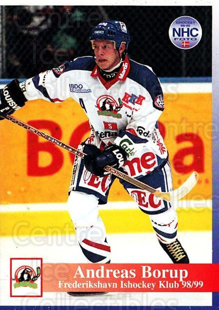 1998-99 Danish Hockey League #146 Andreas Borup<br/>1 In Stock - $3.00 each - <a href=https://centericecollectibles.foxycart.com/cart?name=1998-99%20Danish%20Hockey%20League%20%23146%20Andreas%20Borup...&quantity_max=1&price=$3.00&code=725243 class=foxycart> Buy it now! </a>