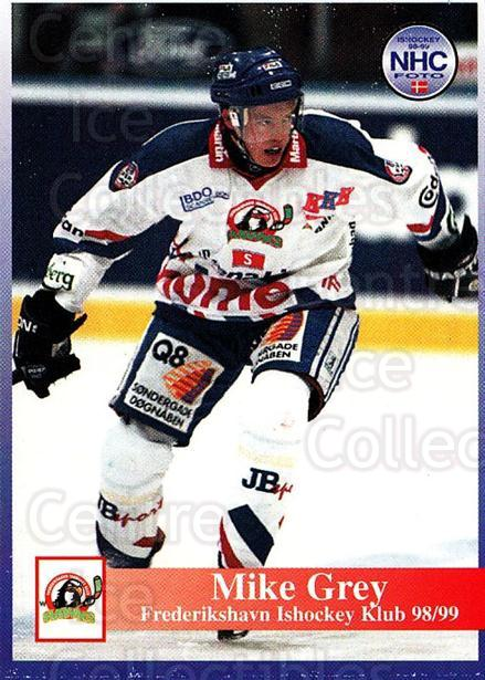 1998-99 Danish Hockey League #155 Mike Grey<br/>1 In Stock - $3.00 each - <a href=https://centericecollectibles.foxycart.com/cart?name=1998-99%20Danish%20Hockey%20League%20%23155%20Mike%20Grey...&quantity_max=1&price=$3.00&code=725252 class=foxycart> Buy it now! </a>