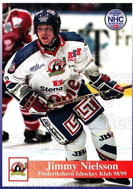 1998-99 Danish Hockey League #156 Jimmy Nielsson<br/>1 In Stock - $3.00 each - <a href=https://centericecollectibles.foxycart.com/cart?name=1998-99%20Danish%20Hockey%20League%20%23156%20Jimmy%20Nielsson...&quantity_max=1&price=$3.00&code=725253 class=foxycart> Buy it now! </a>