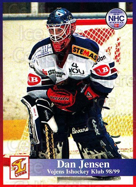 1998-99 Danish Hockey League #183 Dan Jensen<br/>1 In Stock - $3.00 each - <a href=https://centericecollectibles.foxycart.com/cart?name=1998-99%20Danish%20Hockey%20League%20%23183%20Dan%20Jensen...&quantity_max=1&price=$3.00&code=725280 class=foxycart> Buy it now! </a>