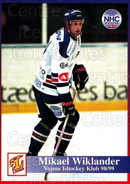1998-99 Danish Hockey League #186 Mikael Wiklander<br/>1 In Stock - $3.00 each - <a href=https://centericecollectibles.foxycart.com/cart?name=1998-99%20Danish%20Hockey%20League%20%23186%20Mikael%20Wiklande...&quantity_max=1&price=$3.00&code=725283 class=foxycart> Buy it now! </a>