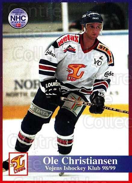 1998-99 Danish Hockey League #189 Ole Christiansen<br/>1 In Stock - $3.00 each - <a href=https://centericecollectibles.foxycart.com/cart?name=1998-99%20Danish%20Hockey%20League%20%23189%20Ole%20Christianse...&quantity_max=1&price=$3.00&code=725286 class=foxycart> Buy it now! </a>