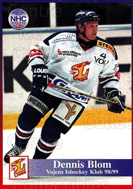 1998-99 Danish Hockey League #191 Dennis Blom<br/>1 In Stock - $3.00 each - <a href=https://centericecollectibles.foxycart.com/cart?name=1998-99%20Danish%20Hockey%20League%20%23191%20Dennis%20Blom...&quantity_max=1&price=$3.00&code=725288 class=foxycart> Buy it now! </a>