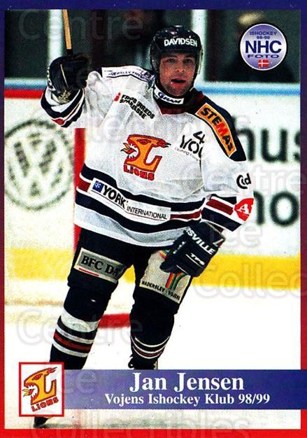 1998-99 Danish Hockey League #196 Jan Jensen<br/>1 In Stock - $3.00 each - <a href=https://centericecollectibles.foxycart.com/cart?name=1998-99%20Danish%20Hockey%20League%20%23196%20Jan%20Jensen...&quantity_max=1&price=$3.00&code=725293 class=foxycart> Buy it now! </a>