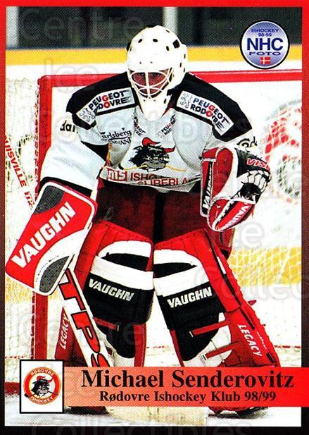 1998-99 Danish Hockey League #206 Michael Senderovitz<br/>1 In Stock - $3.00 each - <a href=https://centericecollectibles.foxycart.com/cart?name=1998-99%20Danish%20Hockey%20League%20%23206%20Michael%20Sendero...&quantity_max=1&price=$3.00&code=725303 class=foxycart> Buy it now! </a>