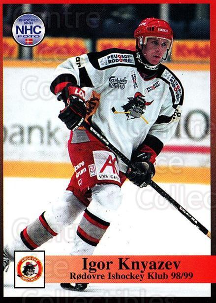 1998-99 Danish Hockey League #207 Igor Knyazev<br/>1 In Stock - $3.00 each - <a href=https://centericecollectibles.foxycart.com/cart?name=1998-99%20Danish%20Hockey%20League%20%23207%20Igor%20Knyazev...&quantity_max=1&price=$3.00&code=725304 class=foxycart> Buy it now! </a>